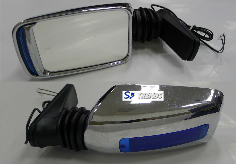 Universal Chrome Turbo Style Side Rear View Mirror Signal