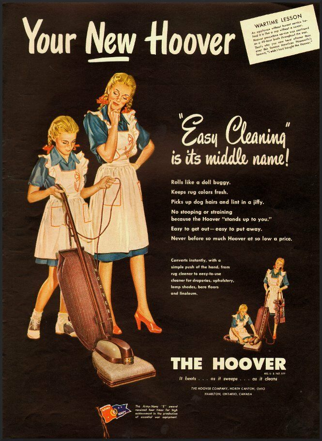 1945 Vintage Ad For The Hoover Vacuum Cleaner 021812 Ebay
