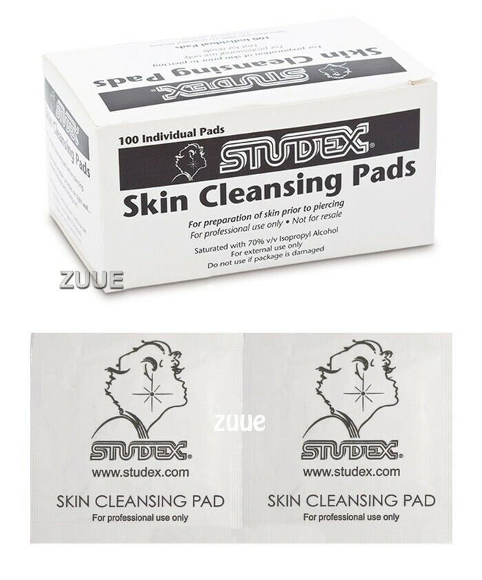 studex skin cleansing pads ear piercing prep wipes buy 10