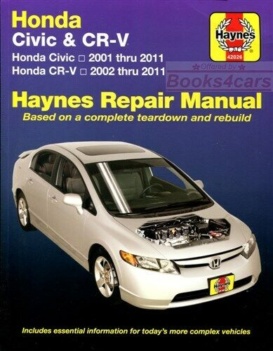 Honda Civic Shop Manual Service Repair Book Haynes