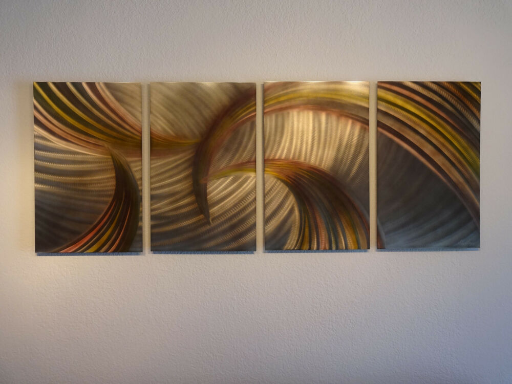 Abstract metal wall art contemporary modern decor for Bronze wall art