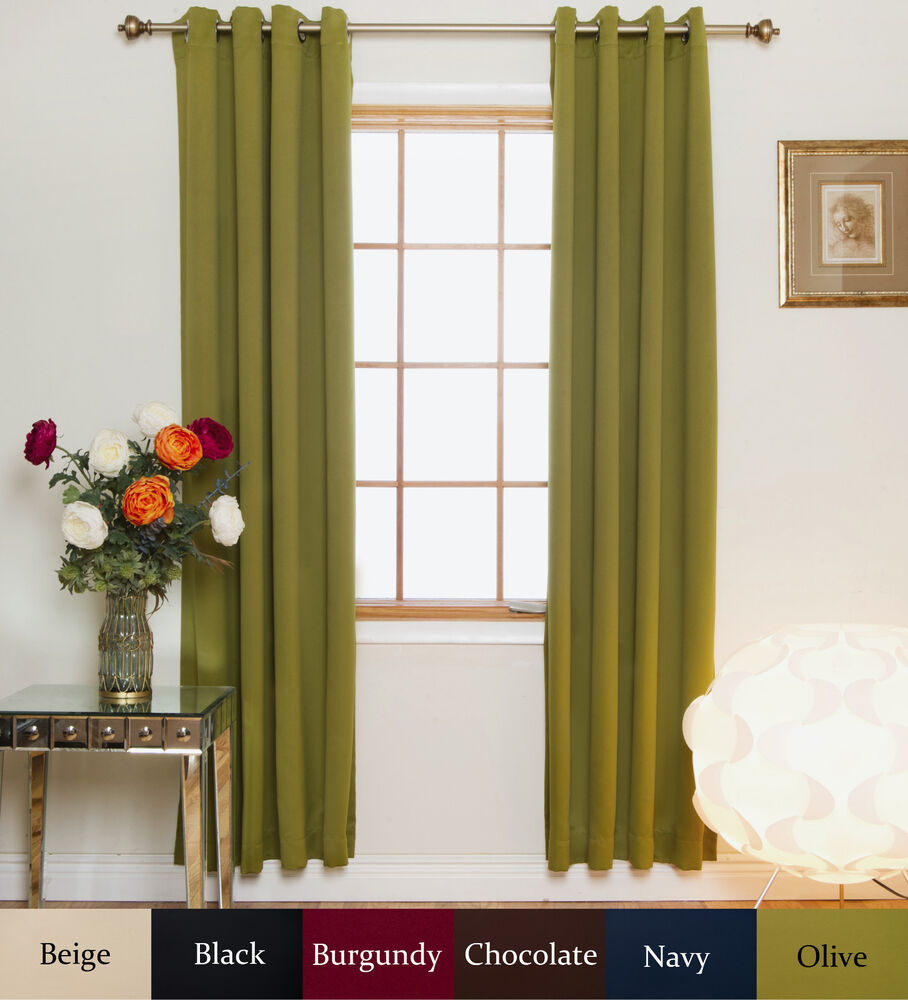 Nickel Grommet Top Insulated Blackout Curtain 74 Inch