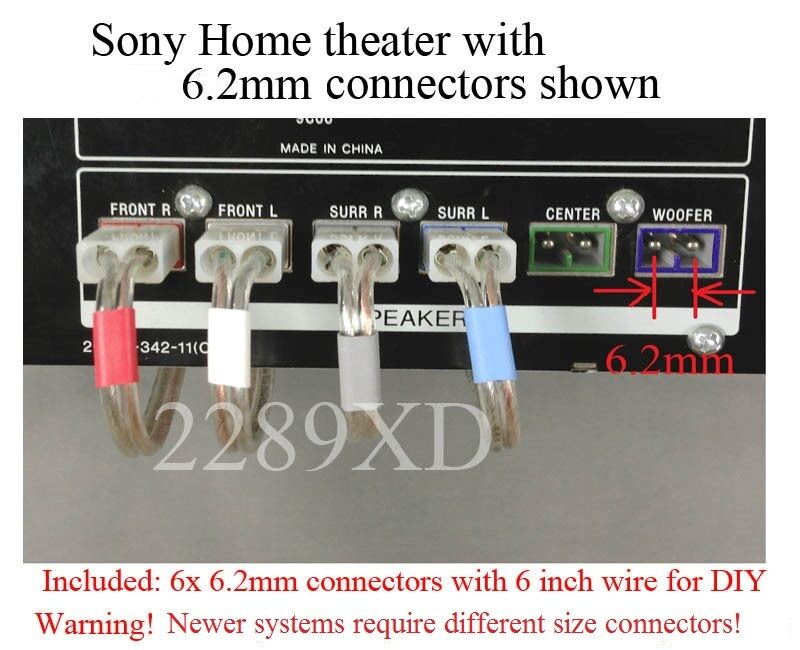 6c 6 2mm Speaker Connectors Made For Sony Dav Dz100 Dz500