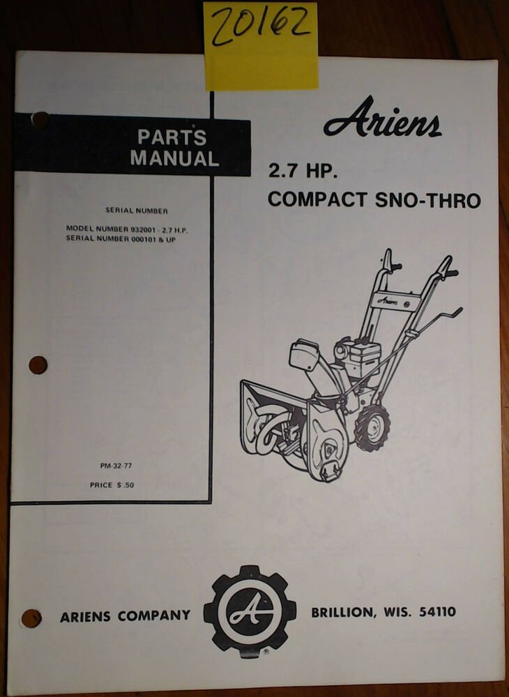 ariens compact 24 owners manual