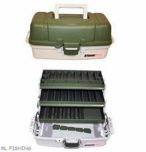 Brand new large 3 tray cantilever tackle box carp fishing for Large tackle boxes for fishing