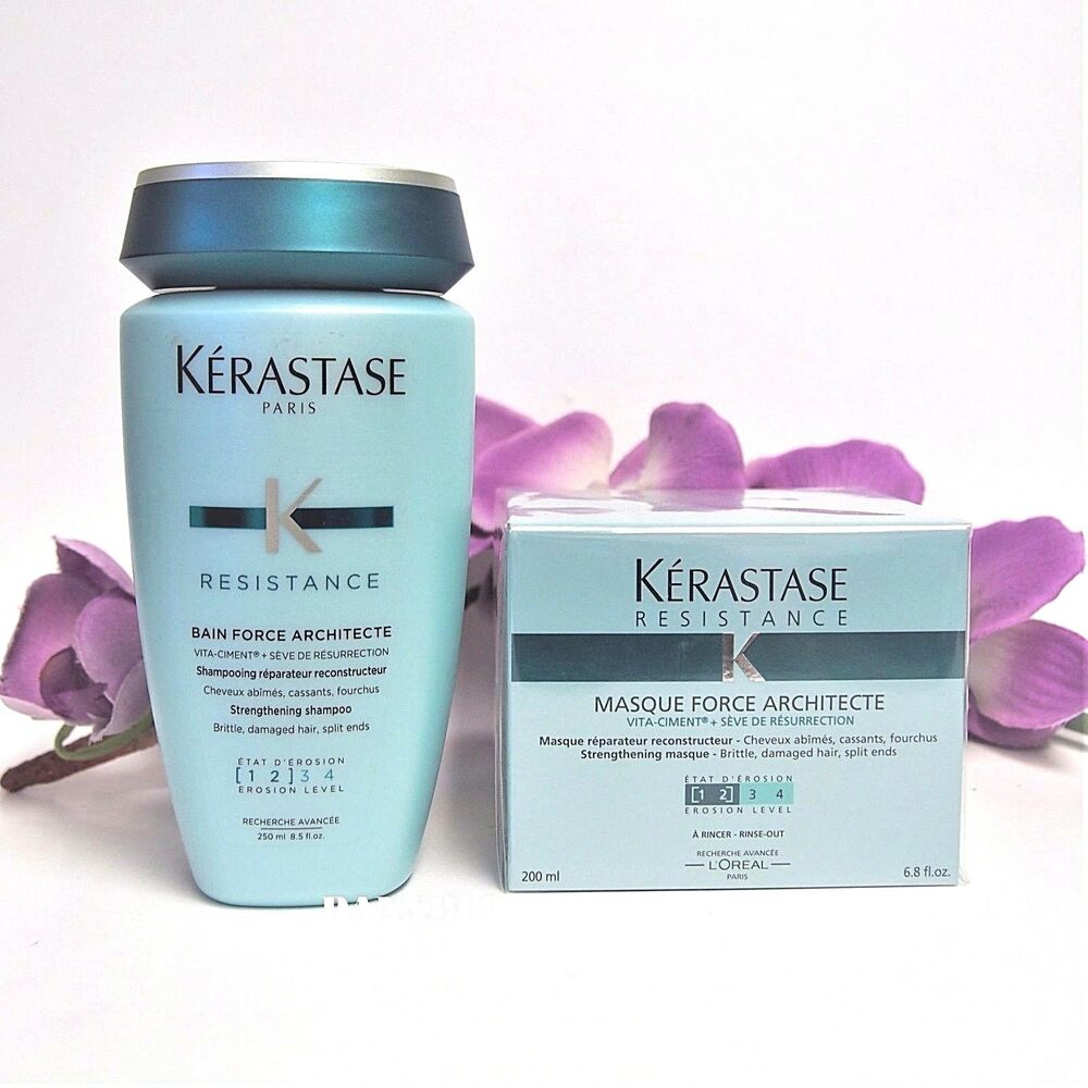 Kerastase bain and masque force architecte 250 200ml same for Kerastase bain miroir conditioner