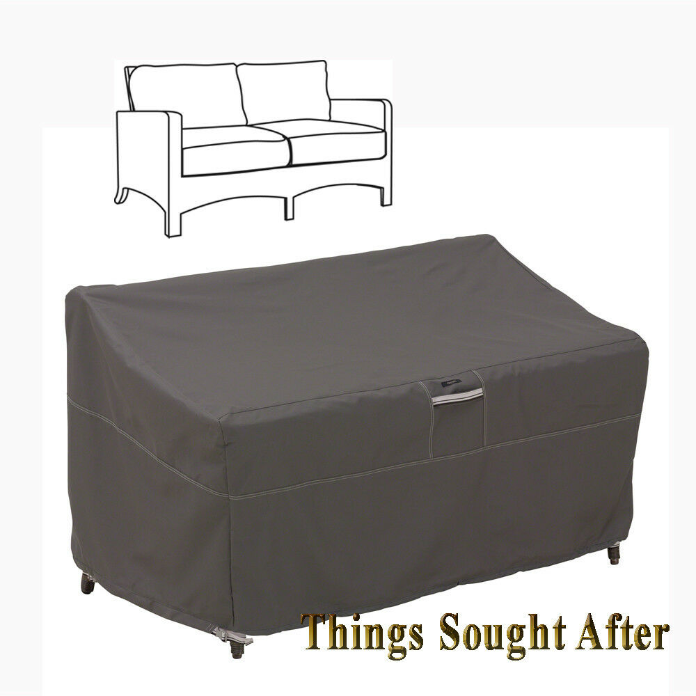 COVER for LARGE PATIO LOVESEAT Outdoor Sofa Furniture Love Seat Storage RAVEN