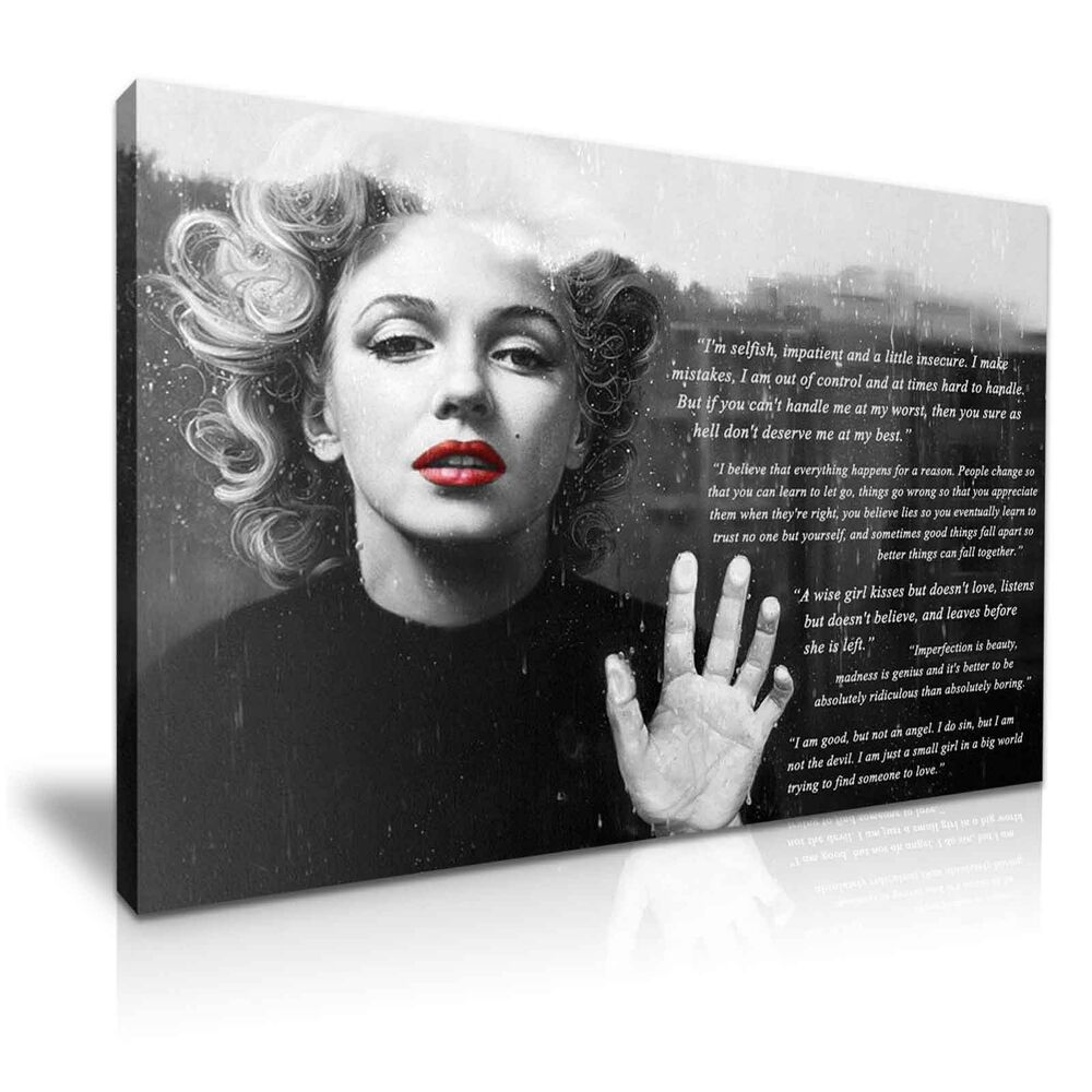 MARILYN MONROE & QUOTES Canvas Print Wall Art Deco ~ More ...