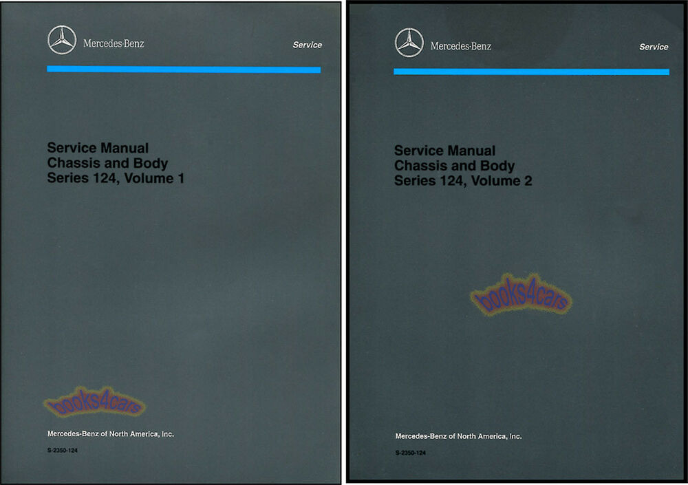 Mercedes shop manual service repair book 124 mb ebay for Mercedes benz e320 service manual
