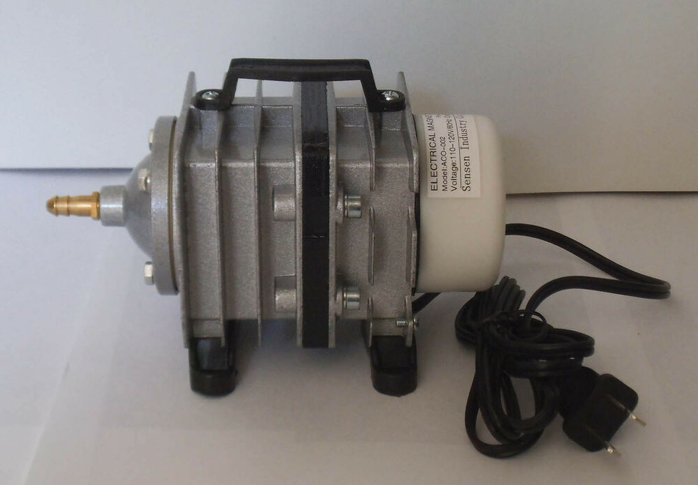 Pond hydroponic aquarium air pump 40lpm w manifold ebay for Hydroponic air pump