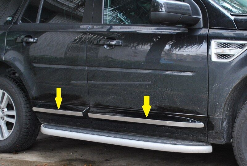 side door molding chrome land rover freelander 2 lr2 2008 2009 2010 2011 2012 13 ebay. Black Bedroom Furniture Sets. Home Design Ideas