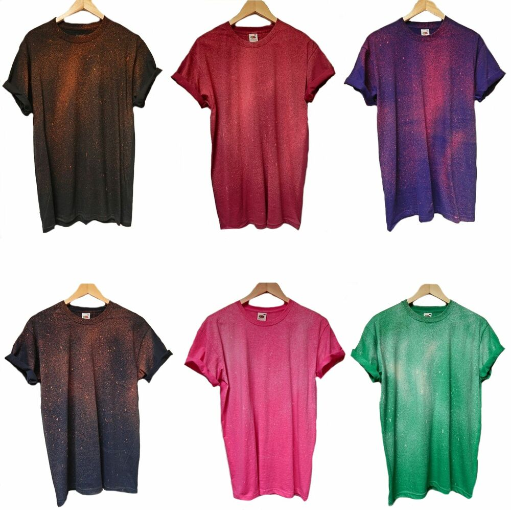Acid wash tie dye t shirt hipster galaxy festival retro for How to wash tie dye shirt after dying
