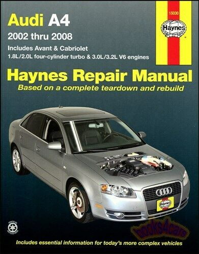 shop manual audi a4 service repair haynes book chilton. Black Bedroom Furniture Sets. Home Design Ideas