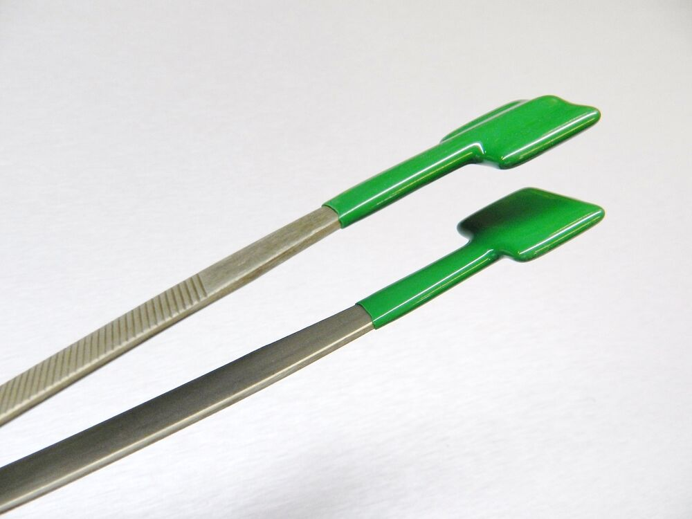 Specialty Tweezers Pvc Coated Forceps Flat Tips Safe