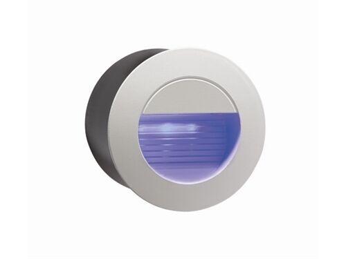 Small Exterior Wall Lights : Recessed Blue LED Round Wall Light Indoor/Outdoor Mini Light 80mm Diam NH020B eBay