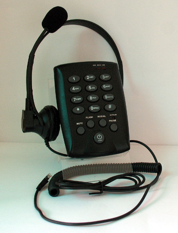 Calltel st10 headset feature telephone for home small office call center new ebay - Phone headsets for office ...