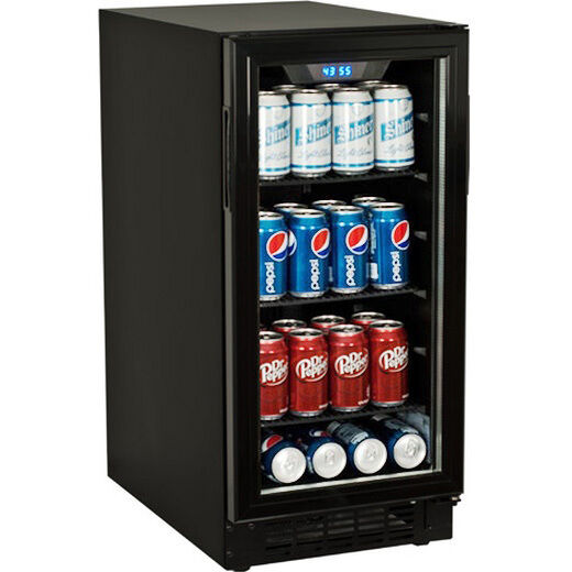 Built In Undercounter Glass Door Refrigerator Compact