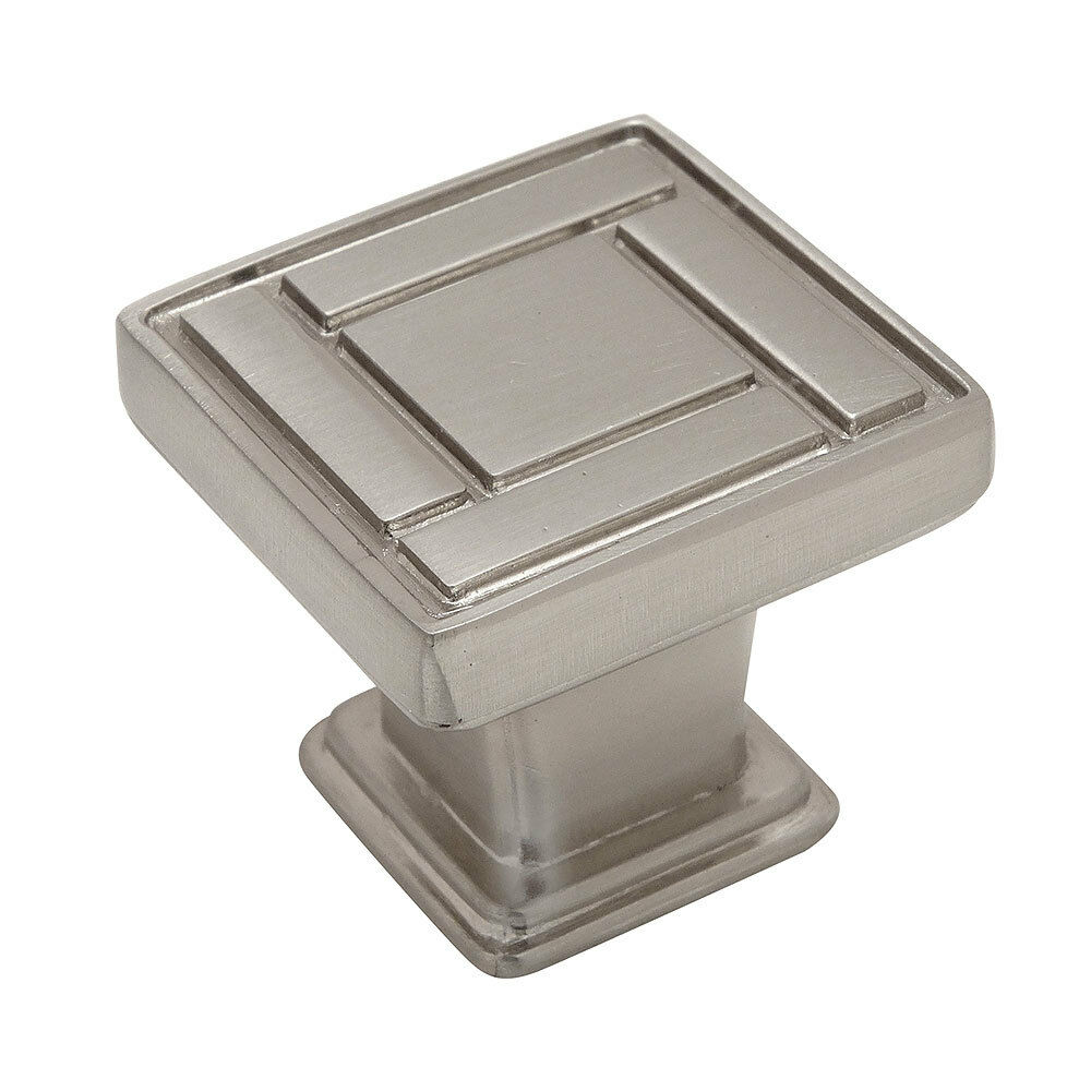 Cosmas cabinet hardware satin nickel square cabinet knobs for Square kitchen cabinet knobs