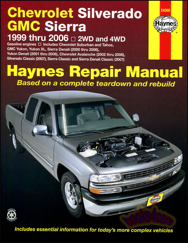 Chevrolet Silverado Gmc Sierra Shop Service Repair Manual
