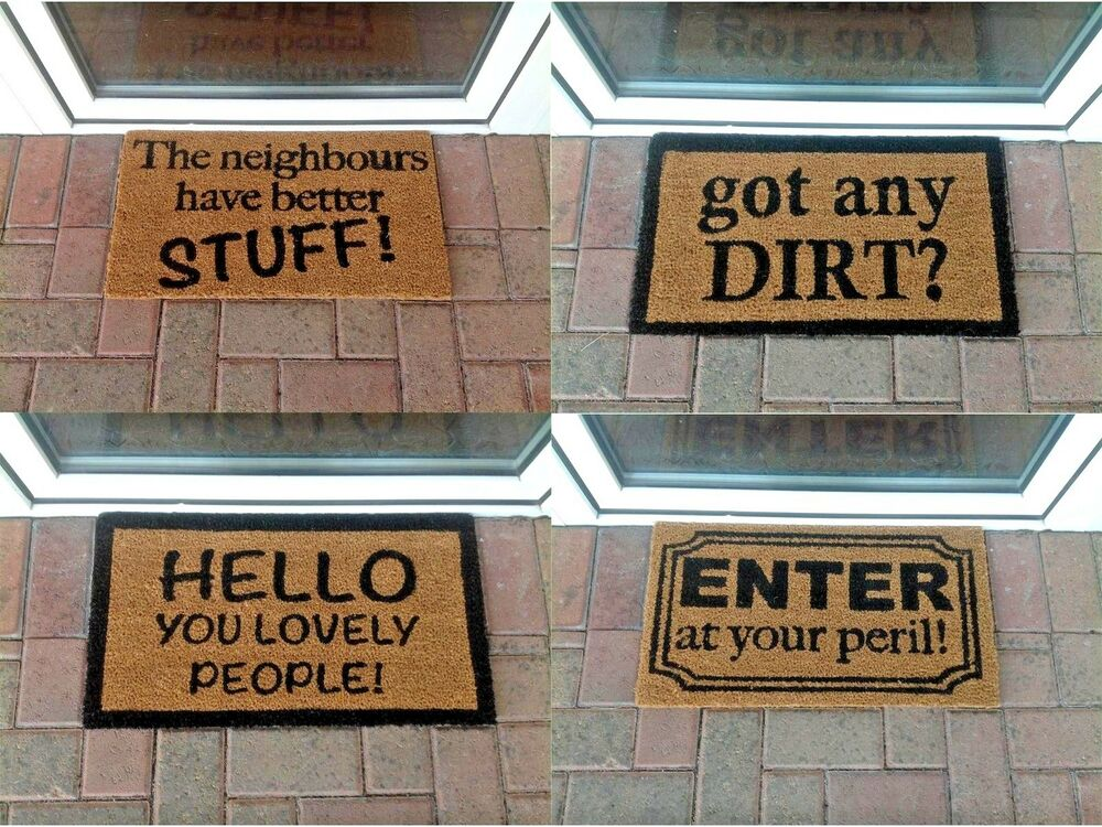 Novelty Coir Doormat Entrance Funny Indoor Outdoor Scraper