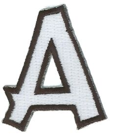 embroidered letter patches letter a embroidered iron on alphabet patch applique 21477