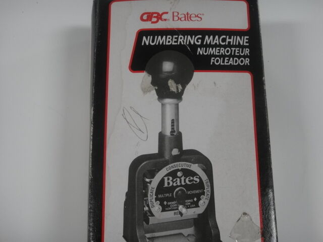 gbc bates numbering machine