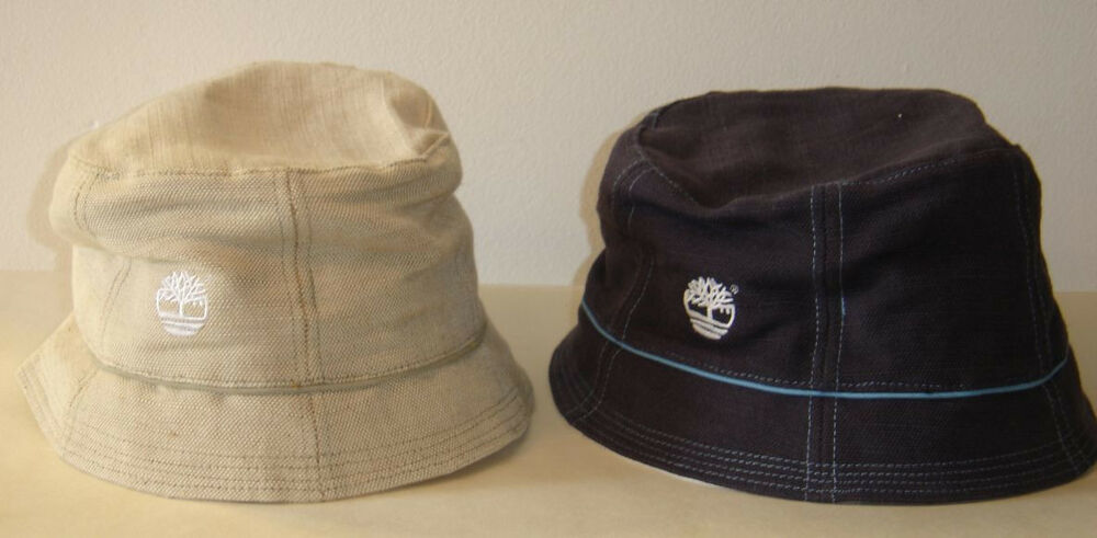 Vintage nwt timberland bucket fishing hat cap blue beige for Fitted fishing hats