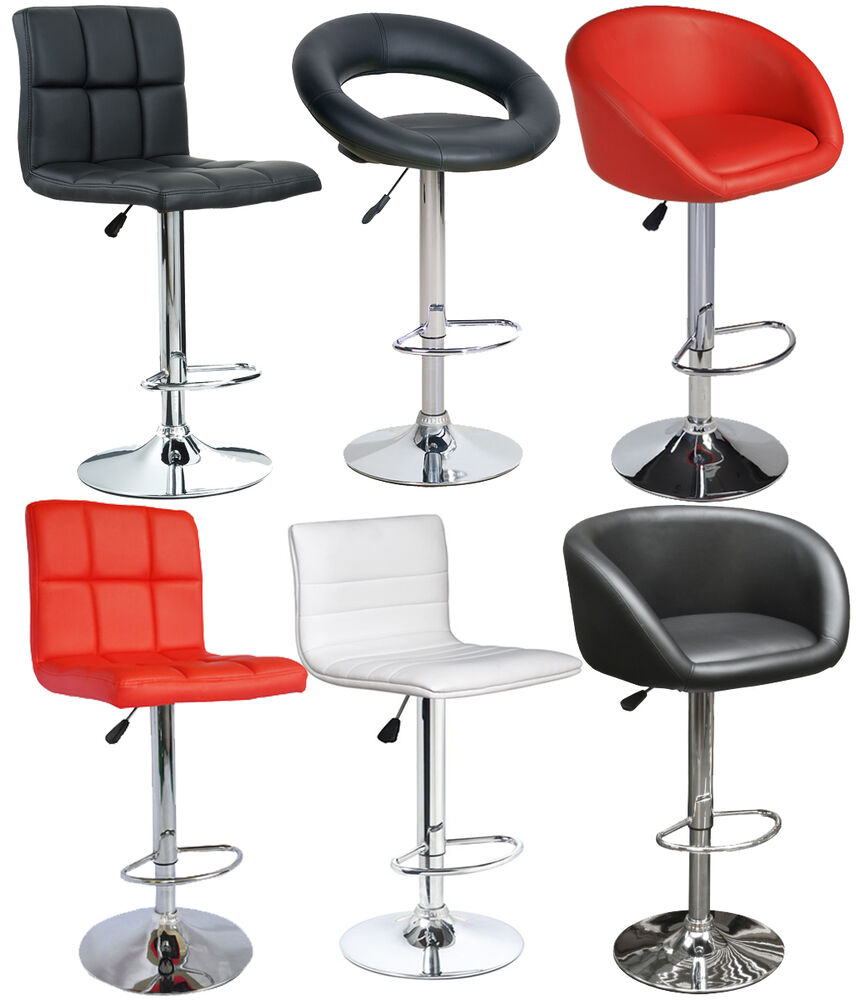 Vital Bar Stools Faux Leather Bar Kitchen Breakfast Swivel Stools Ebay