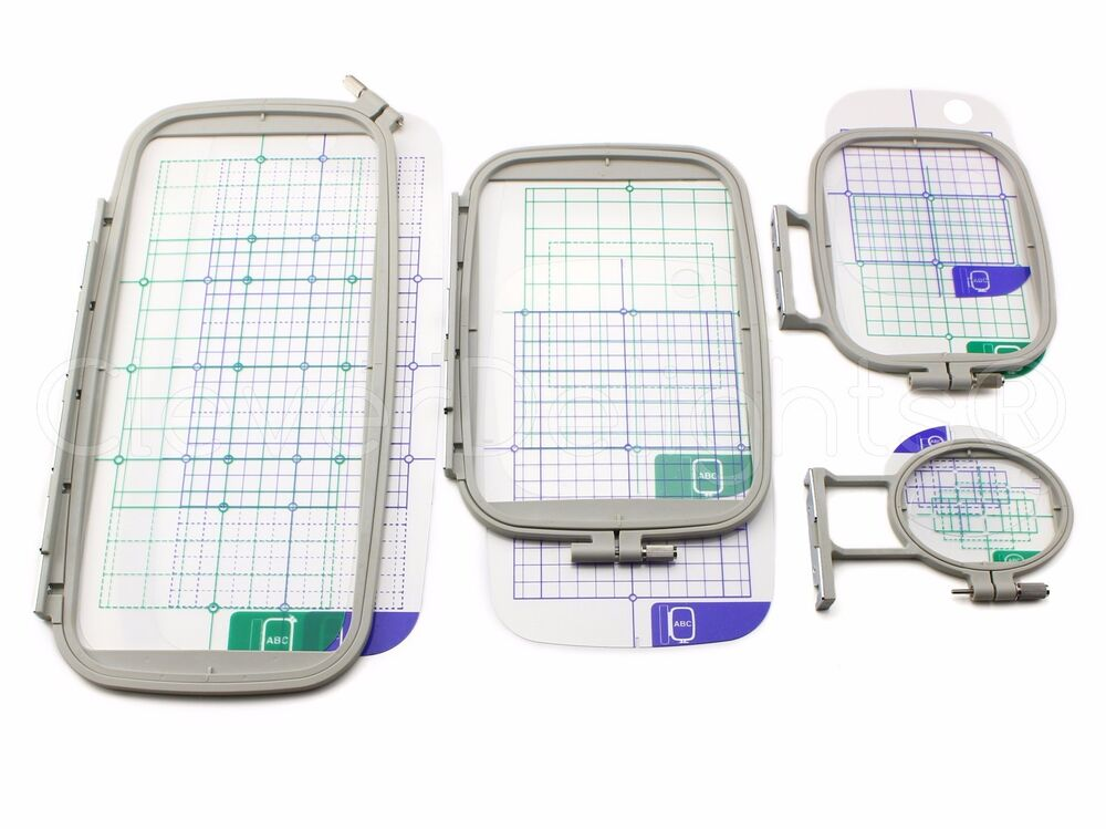 4-Piece Embroidery Hoop Set For Brother PE770 PE700 PE700II Machine - PE-770 | EBay