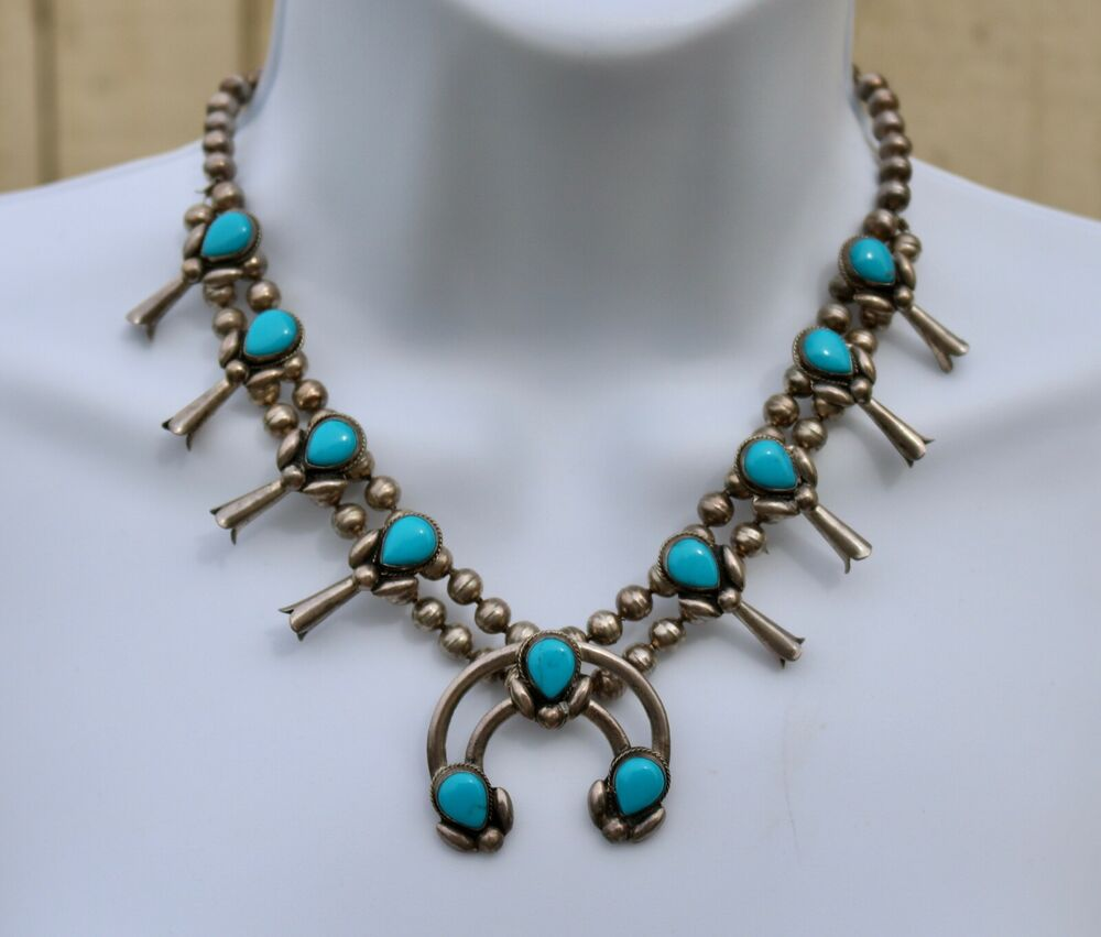 Vintage native american navajo sterling silver turquoise for Southwestern silver turquoise jewelry