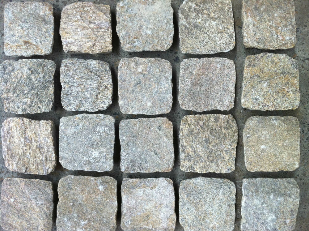 Granite Cobblestone Pavers : Tiger split face granite cobblestone pavers mm