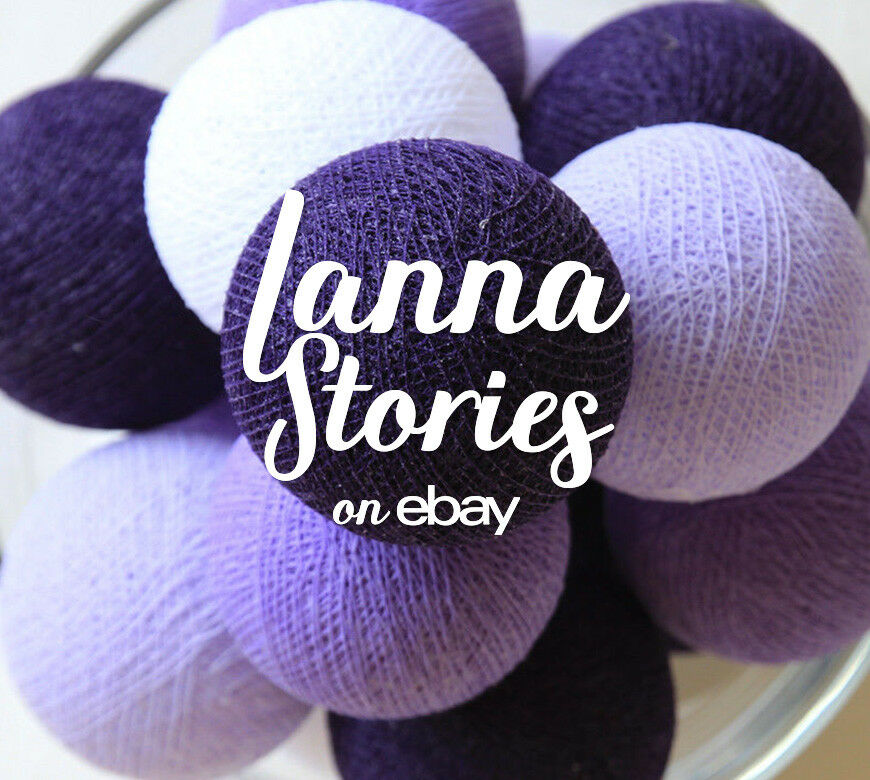 Purple String Lights For Bedroom : SLB288 20 PURPLE TONE COTTON BALL STRING LIGHTS - BEDROOM FAIRY PATIO PARTY DECO eBay