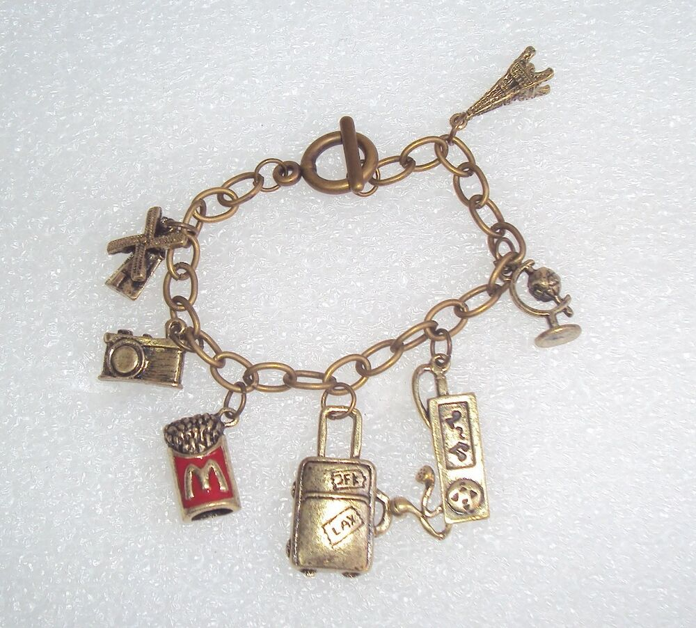 Chained Charm Bracelet Toggle Clasp Different Kinds of ...