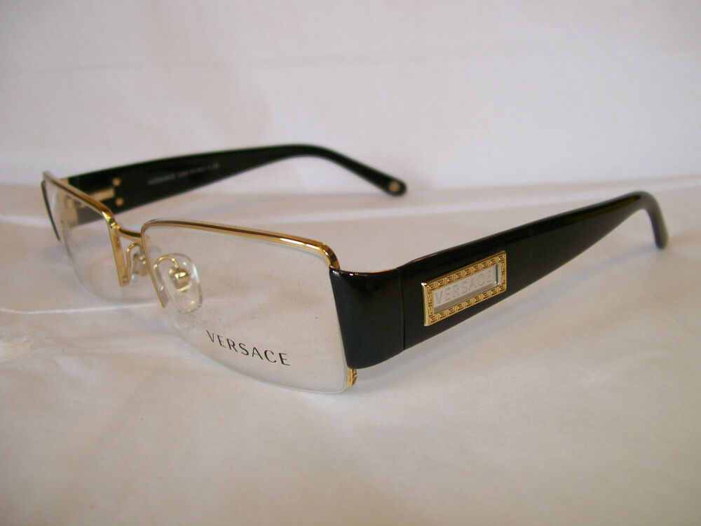 Clear Frame Versace Glasses : VERSACE GLASSES FRAME VE1140 1002 GOLD 51-17-135 ...