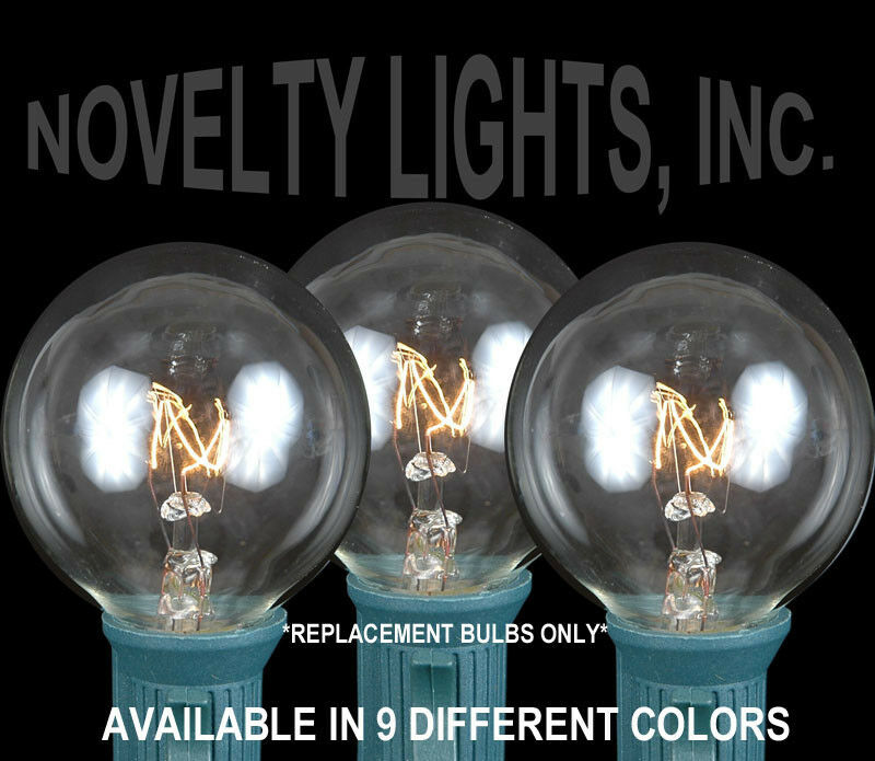 Porch Light Bulb Replacement: 25 Pack G40 Outdoor Lighting Patio Christmas Globe Shape