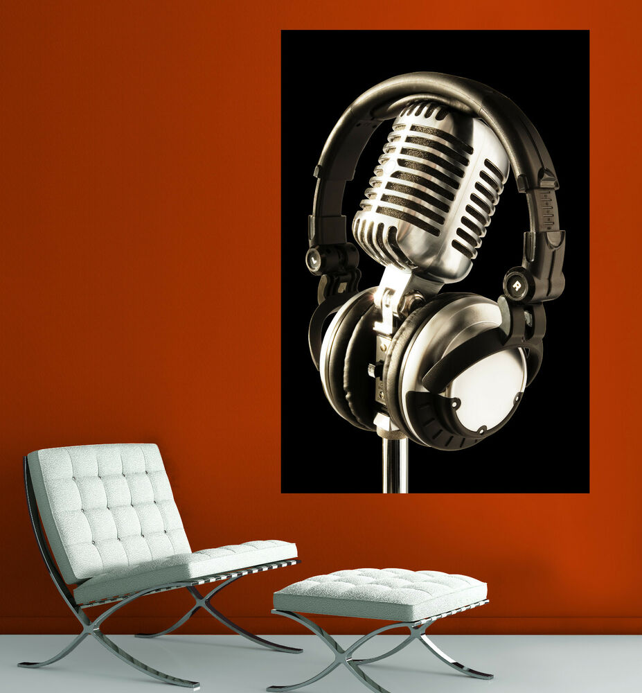Canvas Giclee Home Wall Art Microphone Headset Photo