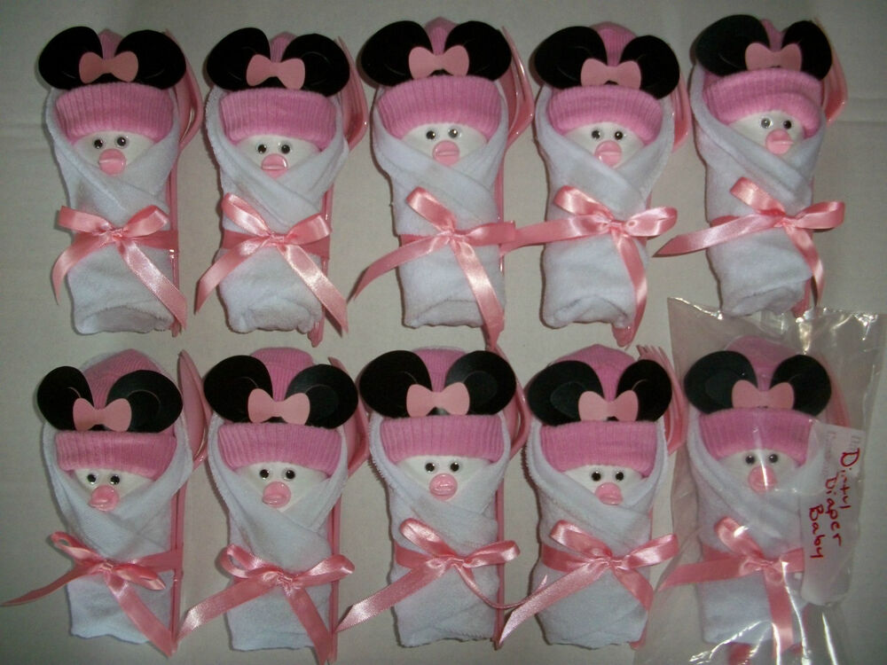 10 minnie mouse little swaddlers dirty diaper game baby for Baby shower favors decoration