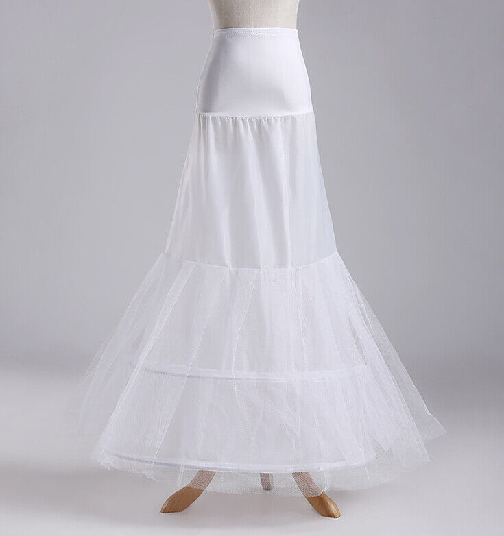 New white bridal fishtail wedding petticoat accessori for Mermaid slip for wedding dress