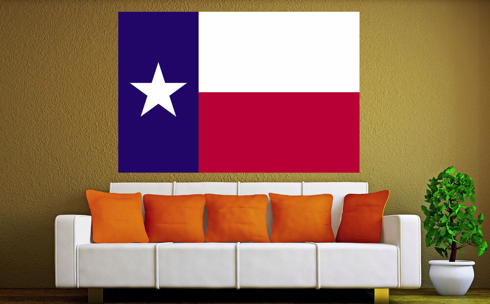 Texas state flag canvas american art prints photo lone for Home decor online shopping usa