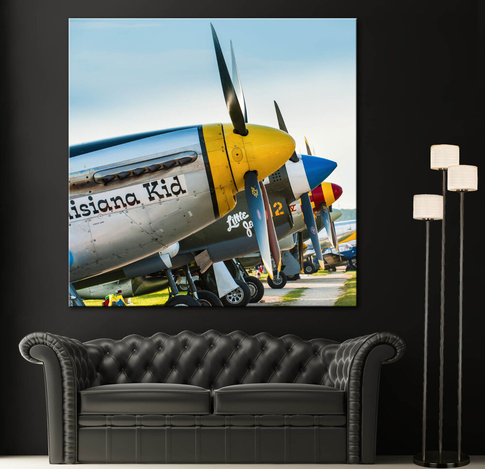 Airplane propeller canvas print wall art prints aircraft for Airplane cockpit wall mural