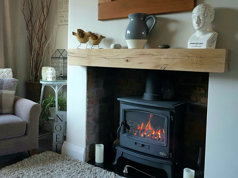 Oak Fireplace Beam Floating Mantle Piece Surround Shelf Free Brackets EBay