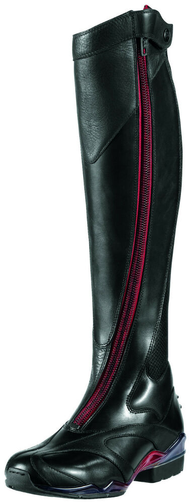 Ariat - Womens Volant Tall Red Zip Front Show Boot -9635