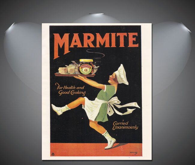 Vintage Marmite Retro Large Poster - A1, A2, A3, A4 sizes ...