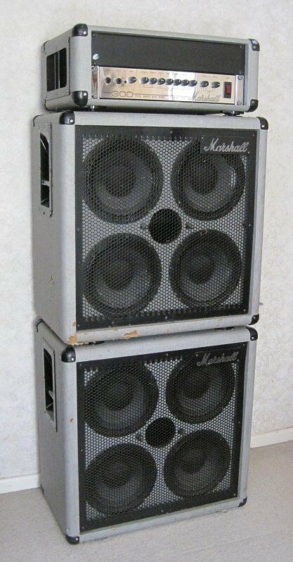 1987 marshall silver jubilee bass stack 3530 amp two 4x10 cab guitar combo ebay. Black Bedroom Furniture Sets. Home Design Ideas