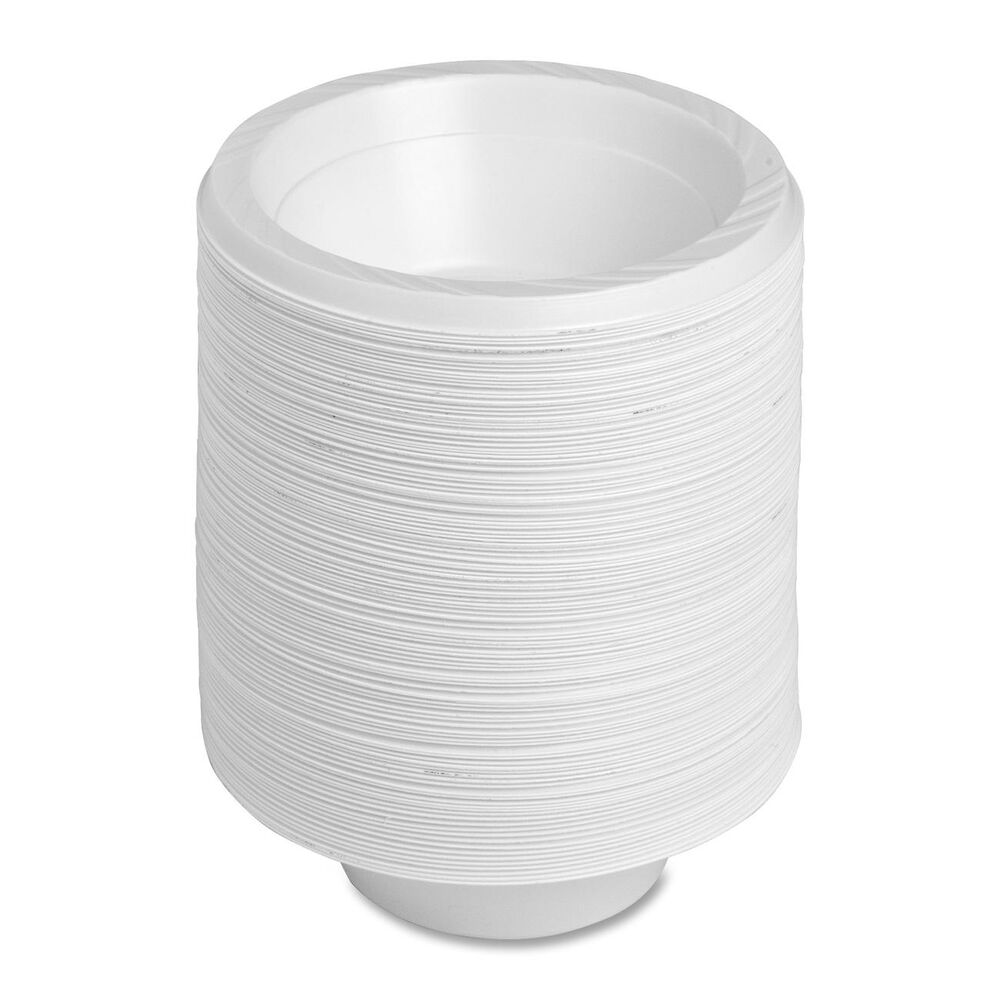 12oz Disposable White Plastic Bowls Available in Pack of ...