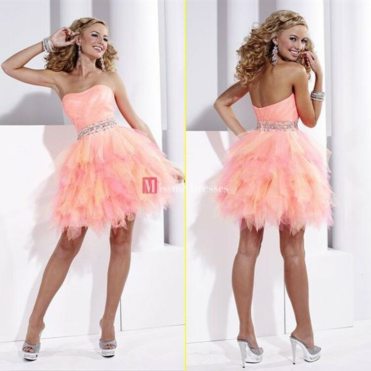 2013 Sale Cheap Orange Homecoming Ball Gowns Mini Dress