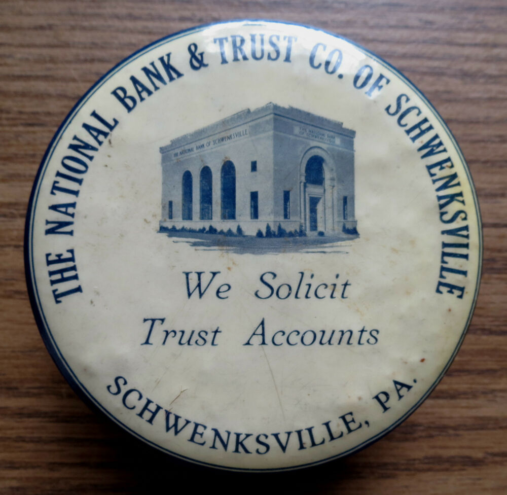 NATIONAL BANK & TRUST CO Of SCHWENCKSVILLE PA ADVERTISING