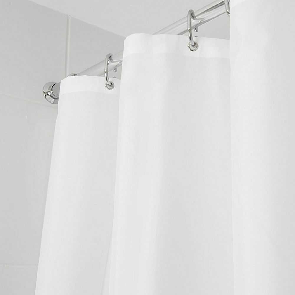 Croydex Thick Strong Machine Washable Shower Curtain White Cream Choice Colours Ebay