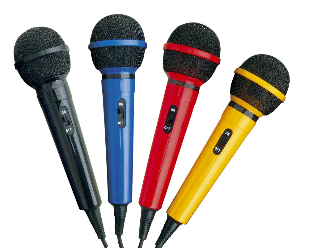 mr entertainer home party dj karaoke singing mic microphone in 4 fun colours ebay. Black Bedroom Furniture Sets. Home Design Ideas