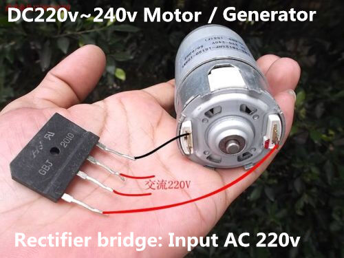 Dc 220v 240v strong magneto motor hand generator with ac for Ac or dc motor for electric car